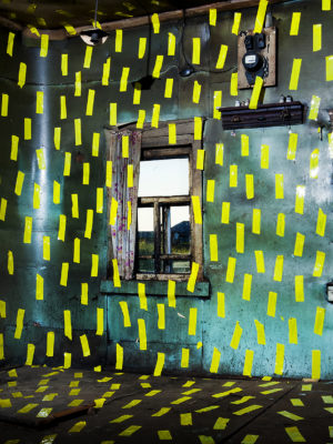 Igor Samolet, The north house interior with yellow line, 2014
